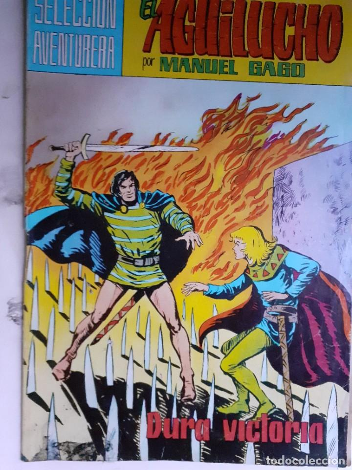 Tebeos: EL AGUILUCHO-SELECCIÓN AVENTURERA- Nº 10 -DURA VICTORIA-1981-GRAN MANUEL GAGO-CORRECTO-LEA-3921 - Foto 2 - 222152542