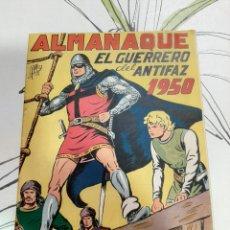 Tebeos: ALMANAQUE DEL GUERRERO DEL ANTIFAZ PARA 1950 ORIGINAL CASI PERFECTO. Lote 222367378