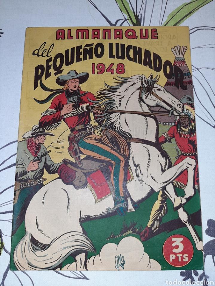 ALMANAQUE DE EL PEQUEÑO LUCHADOR PARA 1948, ORIGINAL Y MUY NUEVO (Tebeos y Comics - Valenciana - Otros)