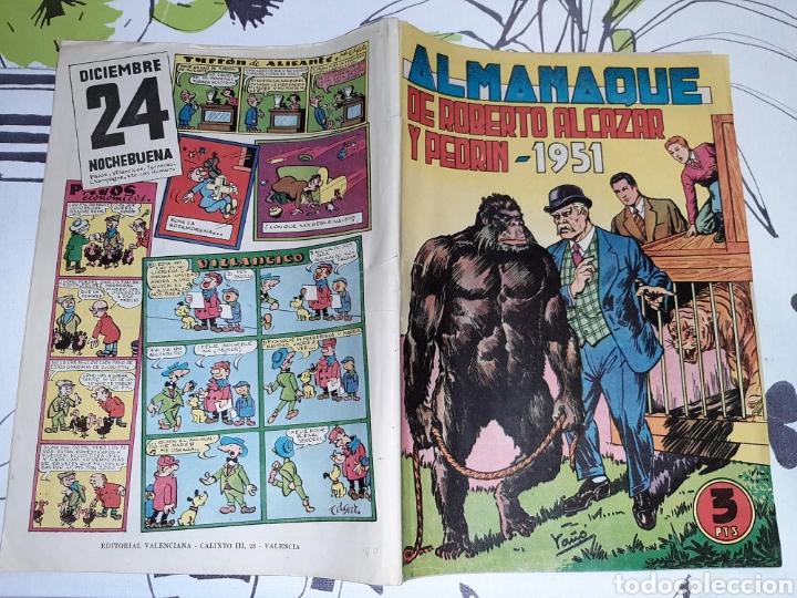 Tebeos: Almanaque de Roberto Alcázar y Pedrín para 1951, original - Foto 2 - 222376133