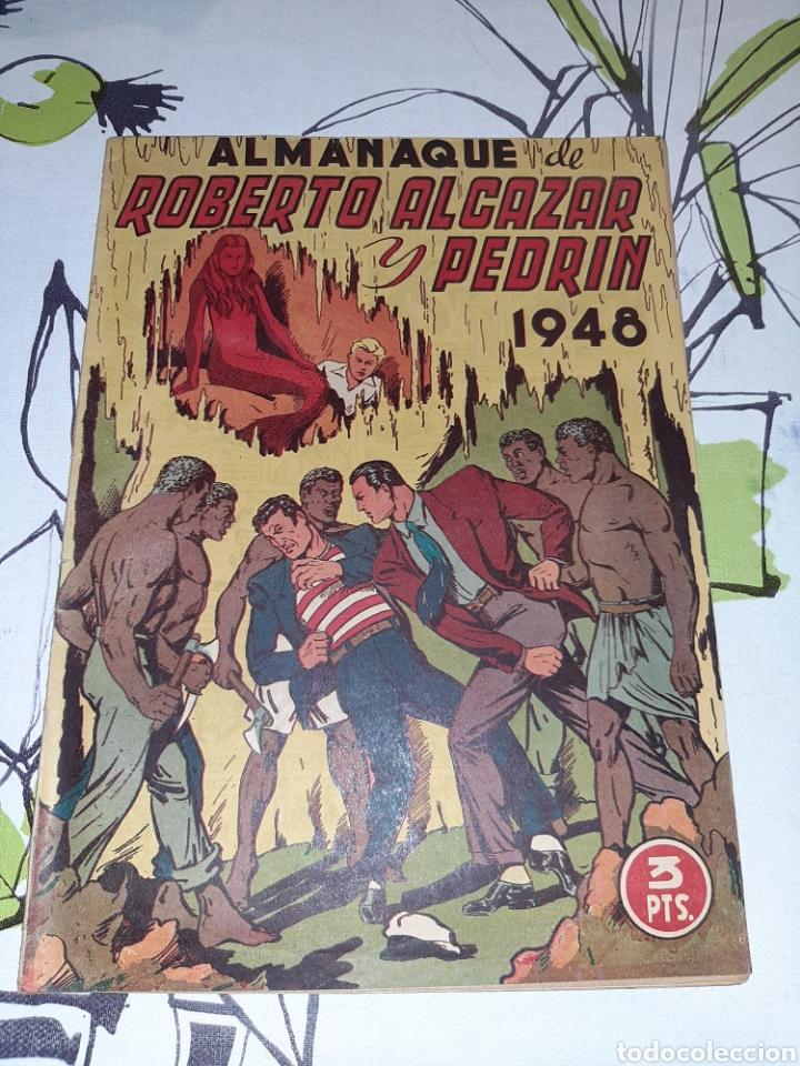 ALMANAQUE DE ROBERTO ALCÁZAR Y PEDRÍN PARA 1948, ORIGINAL Y MUY NUEVO (Tebeos y Comics - Valenciana - Roberto Alcázar y Pedrín)