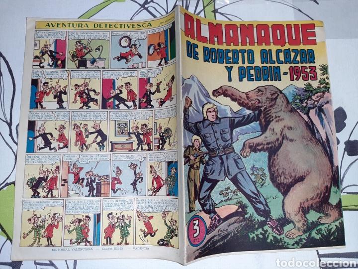 Tebeos: Almanaque de Roberto Alcázar y Pedrín para 1953, original y como nuevo - Foto 2 - 222380906