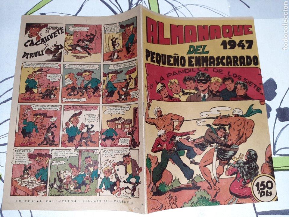 Tebeos: Almanaque de El Pequeño Enmascarado o la Pandilla de los siete para 1947, original y muy nuevo - Foto 2 - 222381848