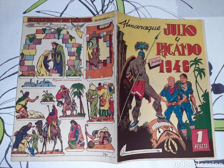 Tebeos: Almanaque de Julio y Ricardo para 1946, original y muy nuevo - Foto 2 - 222384017