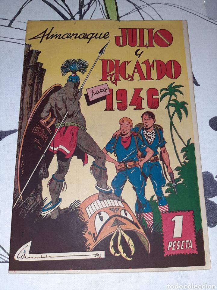 ALMANAQUE DE JULIO Y RICARDO PARA 1946, ORIGINAL Y MUY NUEVO (Tebeos y Comics - Valenciana - Otros)