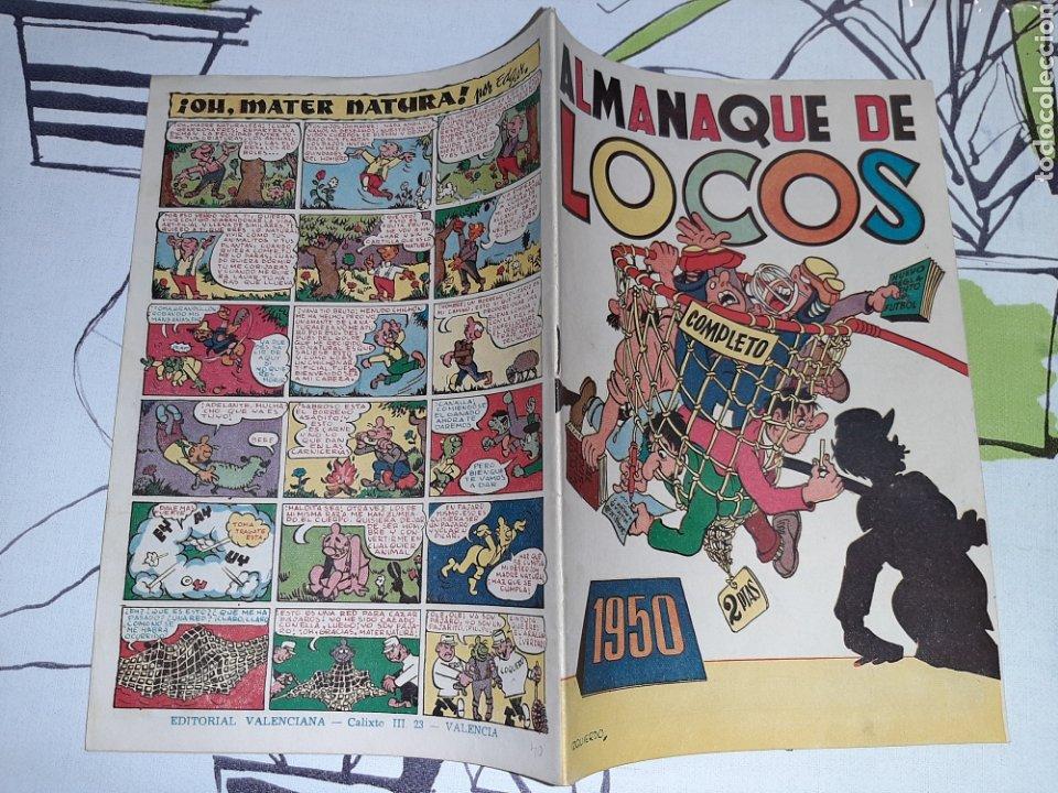 Tebeos: Almanaque de Locos para 1950, original y como nuevo - Foto 2 - 222386412