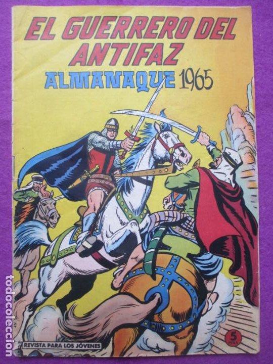TEBEO EL GUERRERO DEL ANTIFAZ ALMANAQUE DE 1965 ED. VALENCIANA ORIGINAL (Tebeos y Comics - Valenciana - Guerrero del Antifaz)