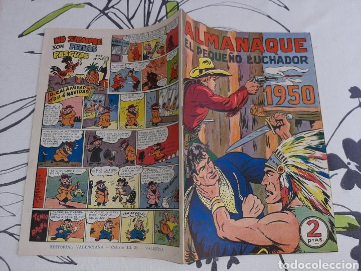 Tebeos: Almanaque de El Pequeño Luchador para 1950, original y nuevo ,ojo ver descrpcion antes de comprar - Foto 2 - 222431741