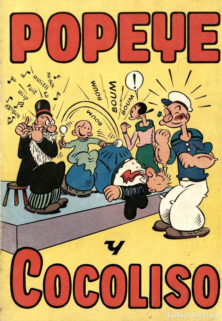 POPEYE Y COCOLISO (VALENCIANA, AÑOS 50) MATERIAL DE 1947 DE TOM SIMS & ZABOLY. Y OTROS CLÁSICOS USA (Tebeos y Comics - Valenciana - Otros)