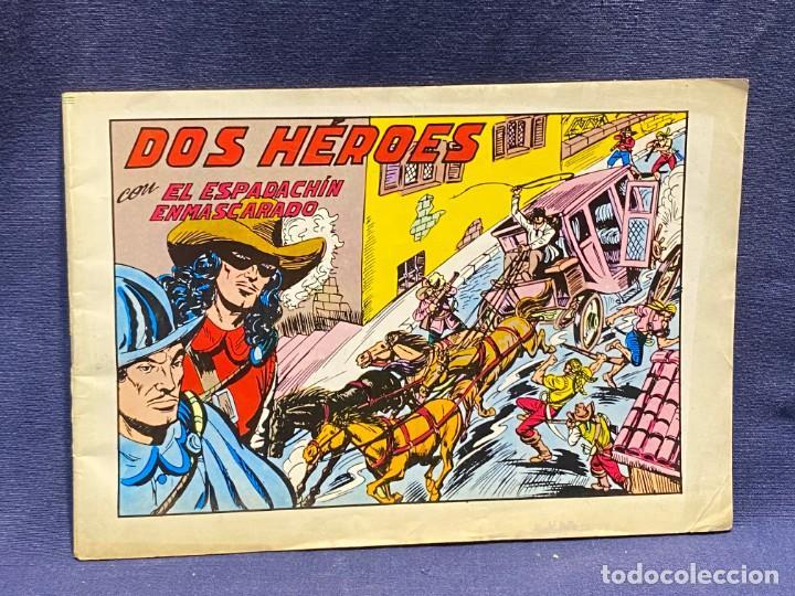 DOS HEROES CON EL ESPADACHIN ENMASCARADO N 53 2 ª ED 17,5X25CMS (Tebeos y Comics - Valenciana - Espadachín Enmascarado)