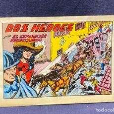 Tebeos: DOS HEROES CON EL ESPADACHIN ENMASCARADO N 53 2 ª ED 17,5X25CMS. Lote 222600880