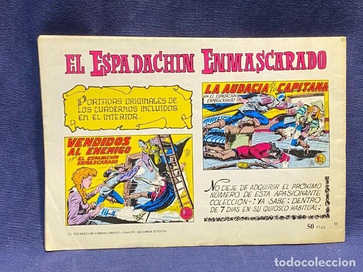 Tebeos: DOS HEROES CON EL ESPADACHIN ENMASCARADO N 53 2 ª ED 17,5X25CMS - Foto 6 - 222600880