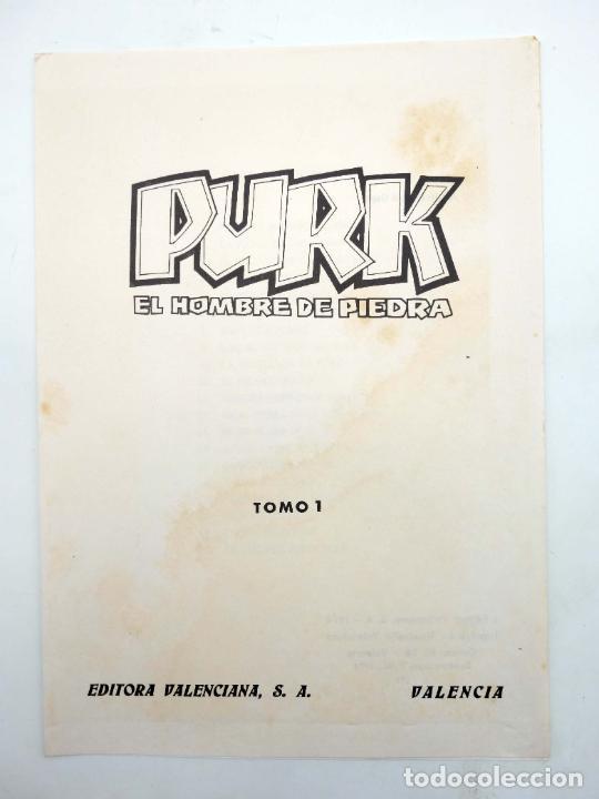 Tebeos: TAPAS PARA ENCUADERNAR PURK EL HOMBRE DE PIEDRA. LOTE 6 TAPAS (4+2) (M. Gago) Valenciana, 1974. OFRT - Foto 6 - 222684806