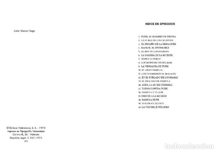 Tebeos: TAPAS PARA ENCUADERNAR PURK EL HOMBRE DE PIEDRA. LOTE 6 TAPAS (4+2) (M. Gago) Valenciana, 1974. OFRT - Foto 10 - 222684806