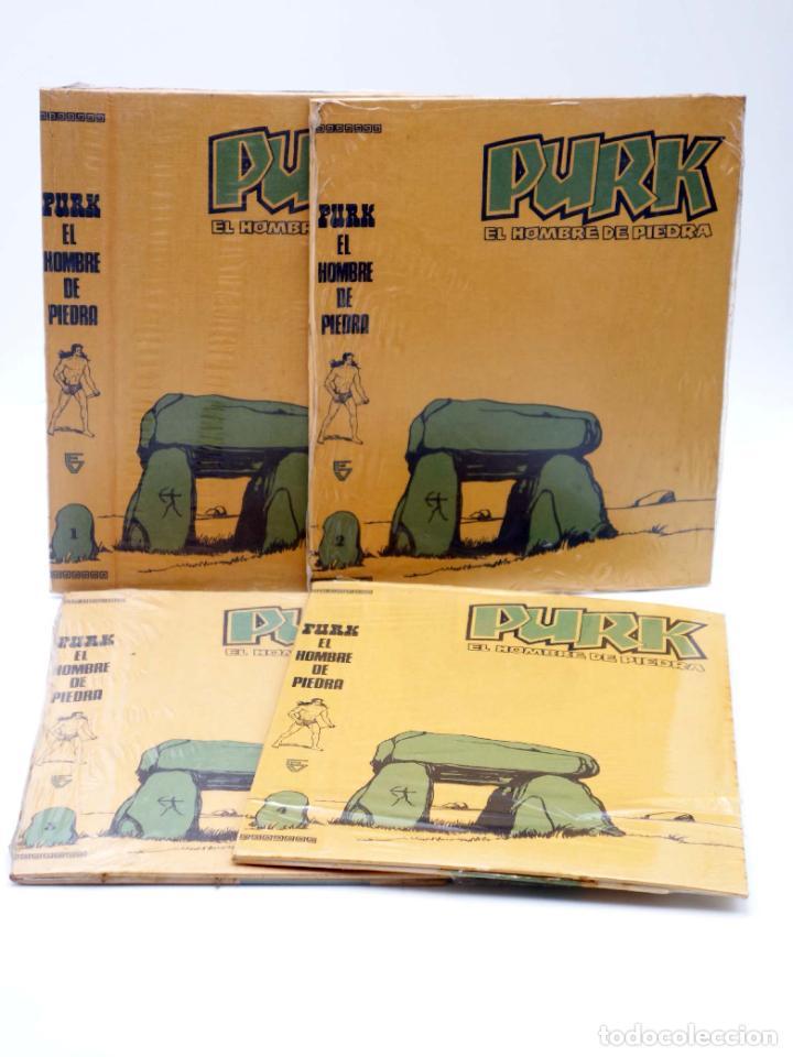 TAPAS PARA ENCUADERNAR PURK EL HOMBRE DE PIEDRA. LOTE 6 TAPAS (4+2) (M. GAGO) VALENCIANA, 1974. OFRT (Tebeos y Comics - Valenciana - Purk, el Hombre de Piedra)