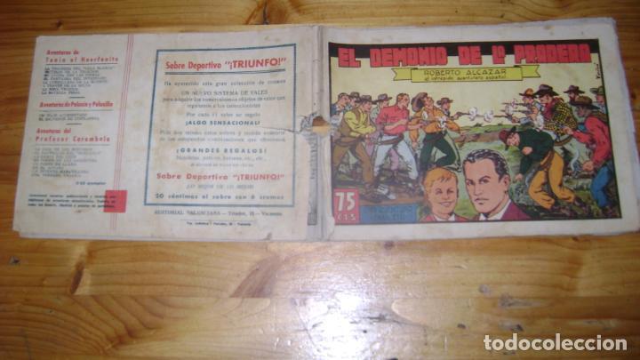 ROBERTO ALCAZAR Y PEDRIN ORIGINAL PRIMERA EDICION 75 CTS 62 EL DEMONIO DE LA PRADERA PASILLO (Tebeos y Comics - Valenciana - Roberto Alcázar y Pedrín)