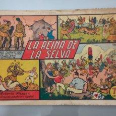 Tebeos: ROBERTO ALCÁZAR Y PEDRÍN N°19 LA REINA DE LA SELVA 1942 ORIGINAL COMPLETO. Lote 222708538