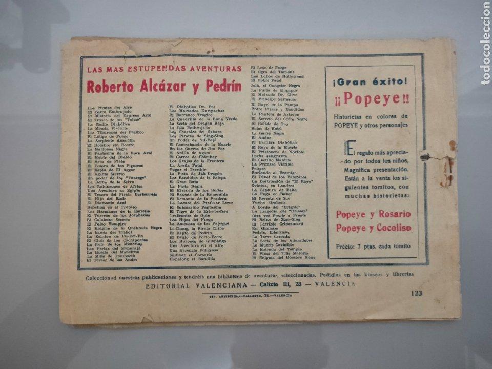 Tebeos: ROBERTO ALCÁZAR Y PEDRÍN N°123 LOS ENDEMONIADOS 1948ORIGINAL COMPLETO - Foto 7 - 222710040