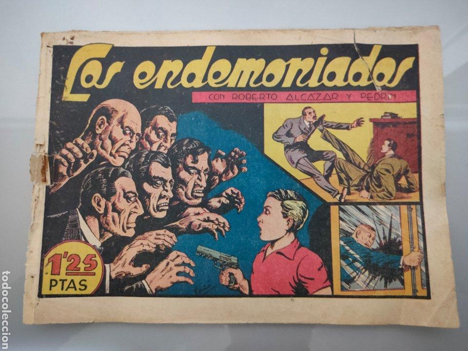 ROBERTO ALCÁZAR Y PEDRÍN N°123 LOS ENDEMONIADOS 1948ORIGINAL COMPLETO (Tebeos y Comics - Valenciana - Roberto Alcázar y Pedrín)