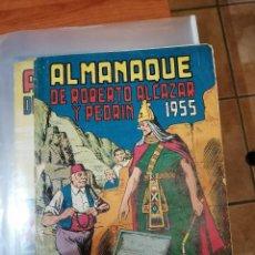 Tebeos: ROBERTO ALCAZAR ALMANAQUE 1955 - ORIGINAL - BUEN ESTADO. Lote 223499250