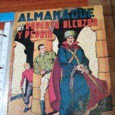 Tebeos: ROBERTO ALCAZAR ALMANAQUE 1950 - ORIGINAL - FALTAN LAS 2 HOJAS CENTRALES. Lote 223500196