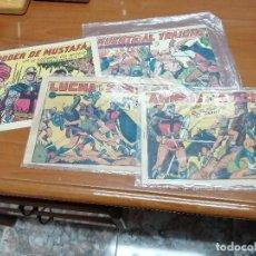 Livros de Banda Desenhada: EL GUERRERO DEL ANTIFAZ - ORIGINAL DE EPOCA - 4 CUADERNILLOS NUMEROS: 40,41,100 Y 321. Lote 223681685