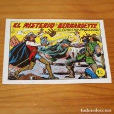 Tebeos: EL ESPADACHIN ENMASCARADO 186 EL MISTERIO DE BERNARDETTE. FACSIMIL. Lote 223775977