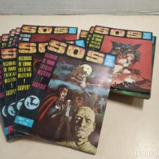 Tebeos: SOS - HISTORIAS DE TERROR, INTRIGA, MISTERIO Y SUSPENSE - DEL 1 AL 25. Lote 224342035