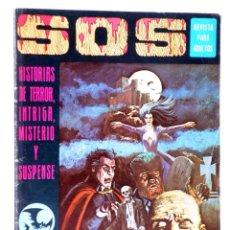 Tebeos: SOS 1ª EPOCA AÑO 1 N.º 1. HISTORIAS DE TERROR, INTRIGA, MISTERIO Y SUSPENSE (VVAA) VALENCIANA, 1975. Lote 224413281