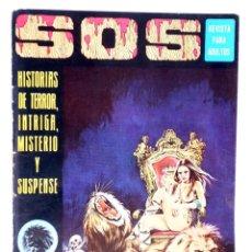 Tebeos: SOS 1ª EPOCA AÑO 1 N.º 12. HISTORIAS DE TERROR, INTRIGA, MISTERIO Y SUSPENSE (VVAA) VALENCIANA, 1975. Lote 224413282