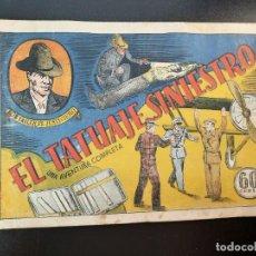 Tebeos: BOB TAILER (1941, VALENCIANA) 4 · X-1941 · EL TATUAJE SINIESTRO. Lote 224817772