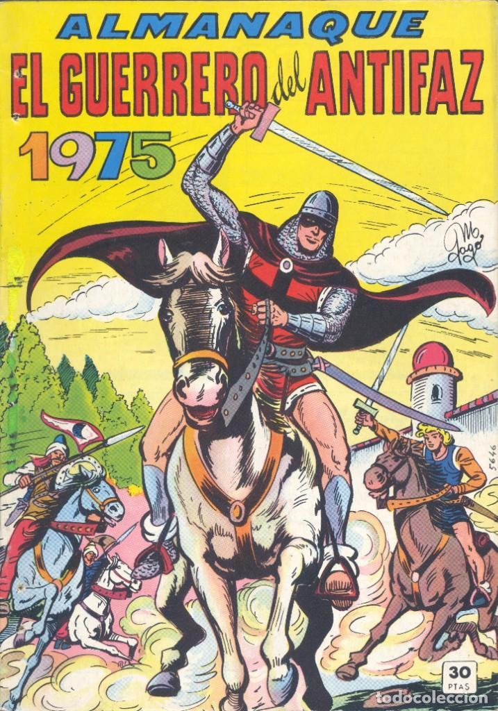 EL GUERRERO DEL ANTIFAZ. ALMANAQUE 1975., VALENCIANA, 1974 (Tebeos y Comics - Valenciana - Guerrero del Antifaz)