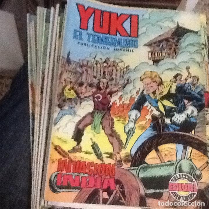 YUKI EL TEMERARIO-COMPLETA 22 NÚMEROS-EDICIONES EDIVAL (Tebeos y Comics - Valenciana - Selección Aventurera)
