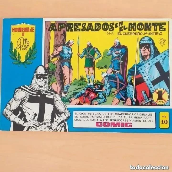 EL GUERRERO DEL ANTIFAZ - APRESADOS EN EL MONTE NUM 10. HOMENAJE A MANUEL GAGO (Tebeos y Comics - Valenciana - Guerrero del Antifaz)