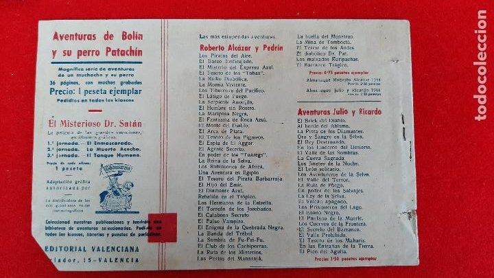 Tebeos: EL MISTERIOSO DOCTOR SATAN VALENCIANA ANTIGUO ORIGINAL CT3 - Foto 2 - 226857500