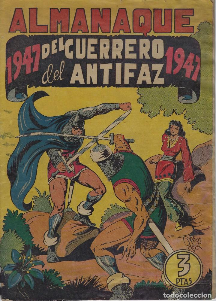EL GUERRERO DEL ANTIFAZ . ALMANAQUE 1947. ORIGINAL. BUEN ESTADO (Tebeos y Comics - Valenciana - Guerrero del Antifaz)
