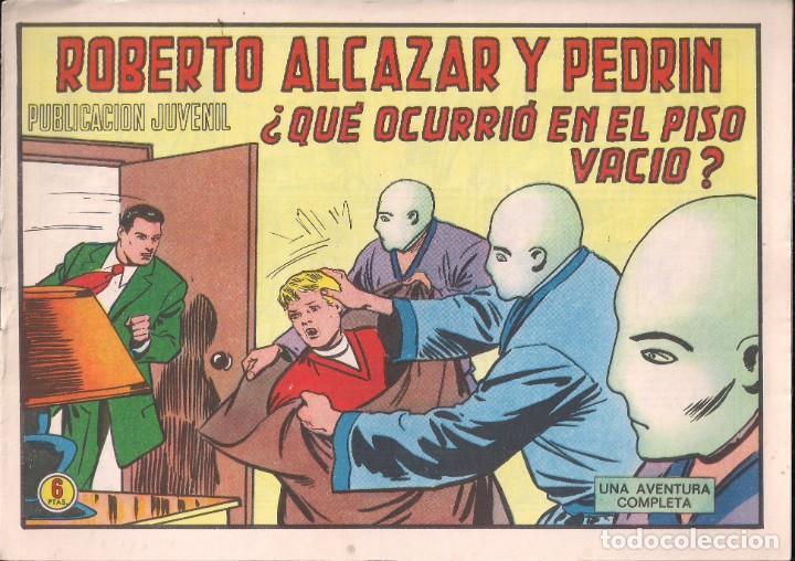 ROBERTO ALCAZAR Y PEDRIN Nº 1200: ¿QUE OCURRIÓ EN EL PISO VACIO? (Tebeos y Comics - Valenciana - Roberto Alcázar y Pedrín)