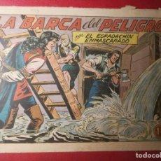 Tebeos: EL ESPADACHÍN ENMASCARADO Nº 209,LA BARCA DEL PELIGRO.EDITORIAL VALENCIANA. ORIGINAL. Lote 227762245