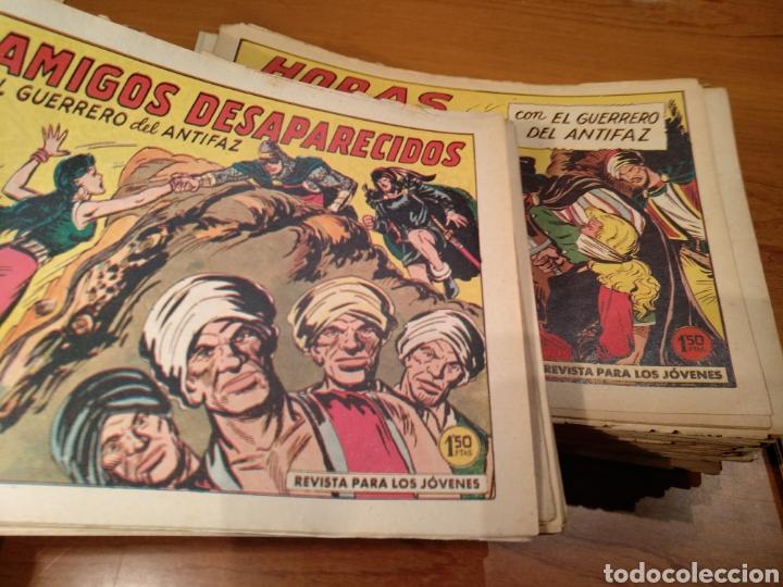 Tebeos: El guerrero del antifaz, originales, lote de 392 numeros. De 1/1,25/1,50 y 2 pesetas - Foto 4 - 228697740