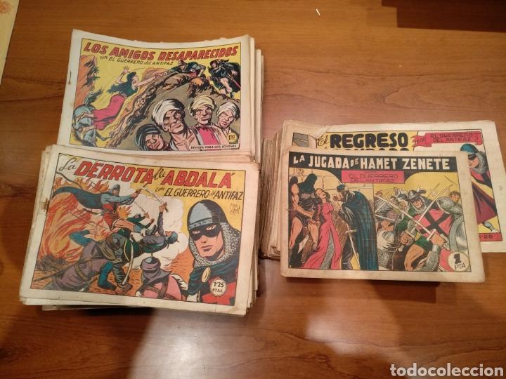EL GUERRERO DEL ANTIFAZ, ORIGINALES, LOTE DE 392 NUMEROS. DE 1/1,25/1,50 Y 2 PESETAS (Tebeos y Comics - Valenciana - Guerrero del Antifaz)