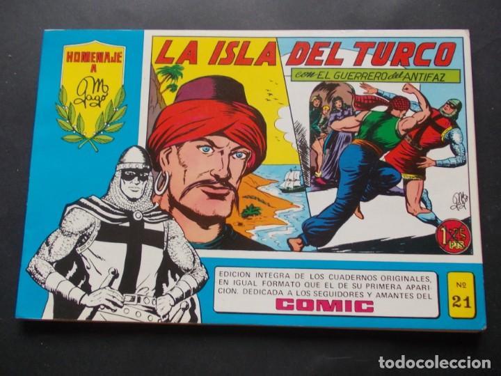 COMIC HOMENAJE A M. GAGO Nº21 LA ISLA DEL TURCO CON EL GUERRERO DEL ANTIFAZ 1981 ED. VALENCIANA (Tebeos y Comics - Valenciana - Otros)
