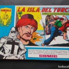 Tebeos: COMIC HOMENAJE A M. GAGO Nº21 LA ISLA DEL TURCO CON EL GUERRERO DEL ANTIFAZ 1981 ED. VALENCIANA. Lote 228913160