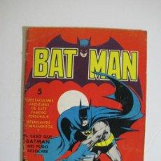 Tebeos: BAT MAN-BATMAN-EL CASO QUE BATMAN NO PUDO RESOLVER-ROBIN-JOKER-ED·VALENCIANA-VER FOTOS-(V-22.391). Lote 230090205