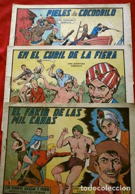 9 NUMEROS - ROBERTO ALCAZAR Y PEDRIN - LOTE 9 COMICS ORIGINALES DE 1961 A 1963 - ED. VALENCIANA (Tebeos y Comics - Valenciana - Roberto Alcázar y Pedrín)
