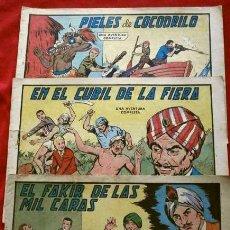 Tebeos: 9 NUMEROS - ROBERTO ALCAZAR Y PEDRIN - LOTE 9 COMICS ORIGINALES DE 1961 A 1963 - ED. VALENCIANA. Lote 230227385