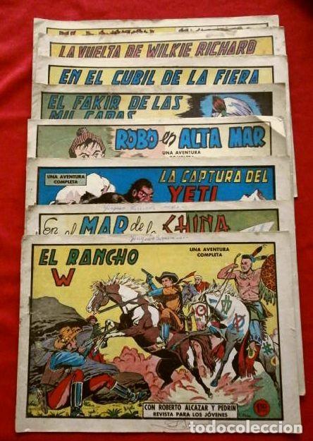 Tebeos: 9 NUMEROS - ROBERTO ALCAZAR Y PEDRIN - LOTE 9 comics ORIGINALES DE 1961 A 1963 - ED. VALENCIANA - Foto 2 - 230227385