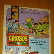 BDs: COLOSOS DEL COMIC, SUPER 3, NÚMERO 3. Lote 230609345