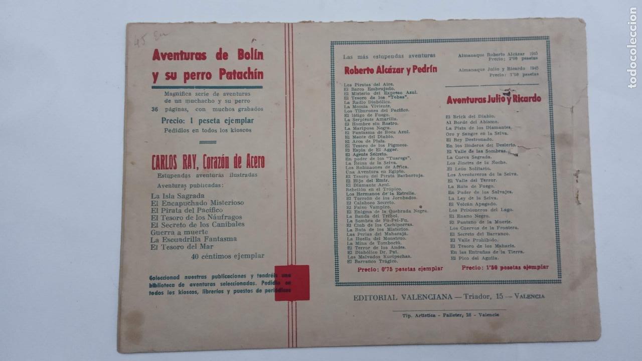 Tebeos: JUAN Y RAMIRO ORIGINAL Nº 2 - VALENCIANA 1944 DIBUJOS CLAUDIO TINOCO - Foto 2 - 231615645