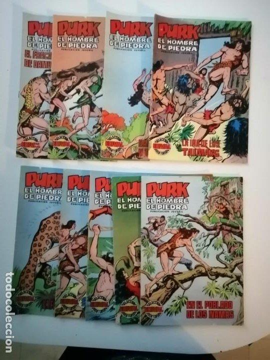 Tebeos: Lote 26 comics Purk el hombre de piedra.N° 2-5-8-10-12-13-15-16-24-29-30-35-44-47-55-59,del 61 al 70 - Foto 2 - 231958380
