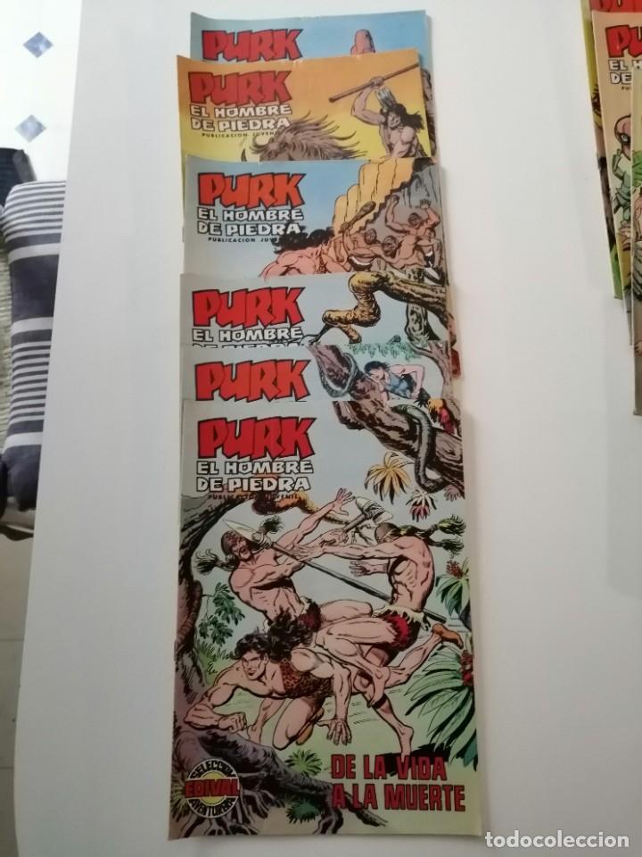 Tebeos: Lote 26 comics Purk el hombre de piedra.N° 2-5-8-10-12-13-15-16-24-29-30-35-44-47-55-59,del 61 al 70 - Foto 3 - 231958380